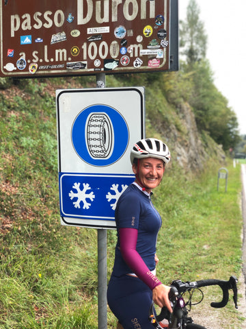 sher women cycling italy passo duron