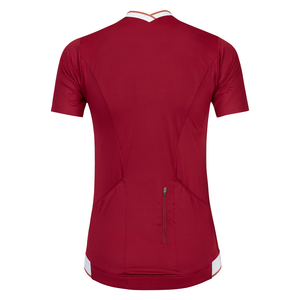woman cycling jersey pura red