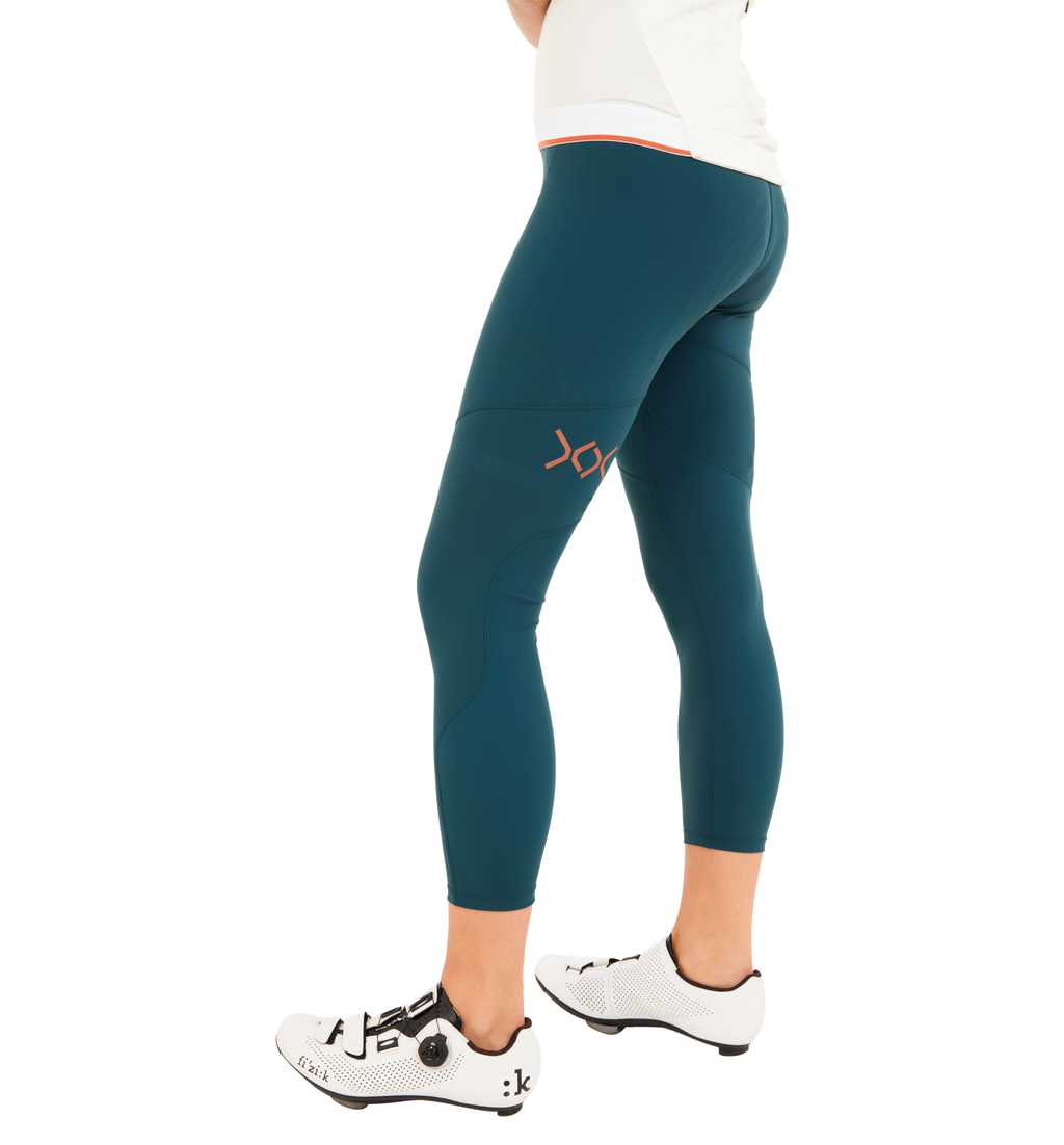 Sher women running training cycling tight 7/8 ponderosa green tight ZERO
