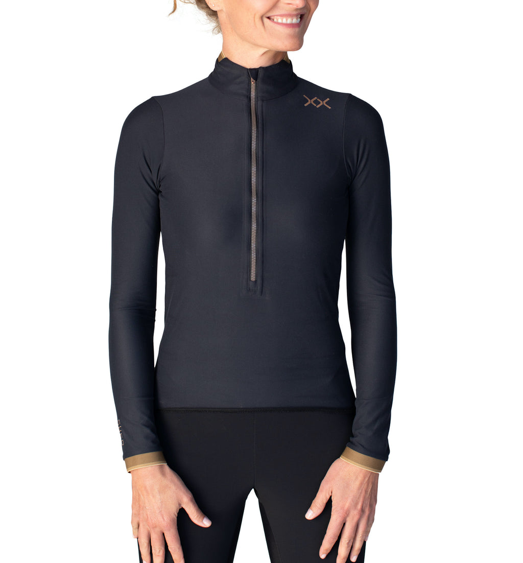 sher women cycling long sleeve top pianeta black
