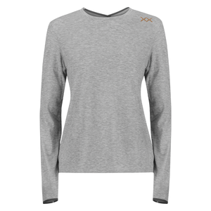 woman training tshirt ls grey