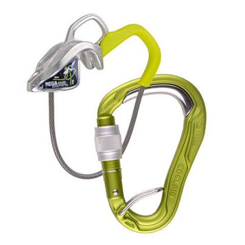 Edelrid Mega Jul + HMS Bulletproof Screw Lock Carabiner