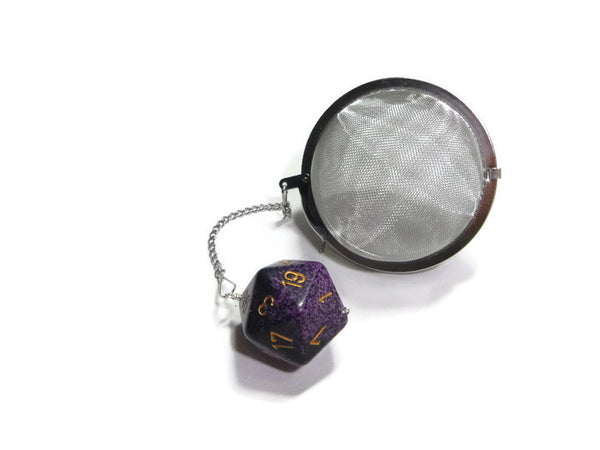 3 Inch Tea Infuser Ball with Large d20 - Color Randomly Chosen