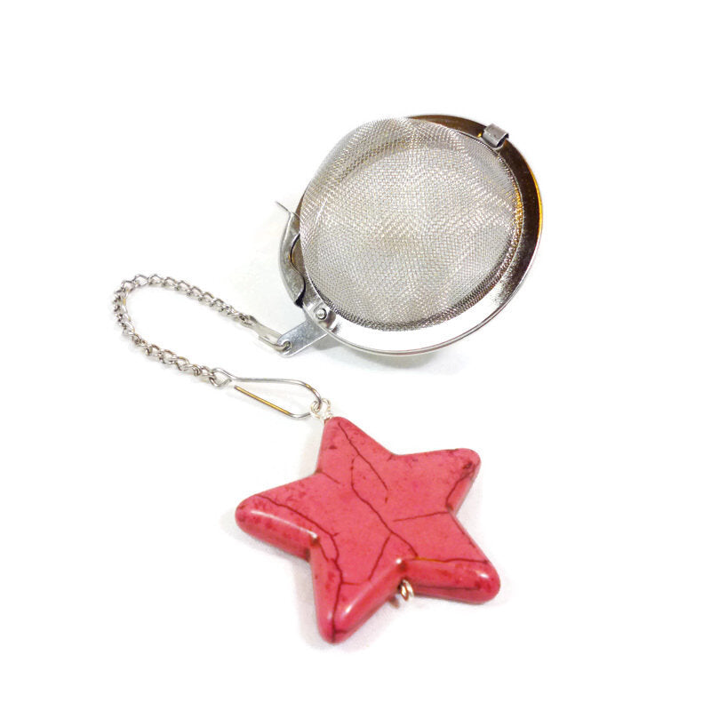 Tea Infuser with Pink Star Charm