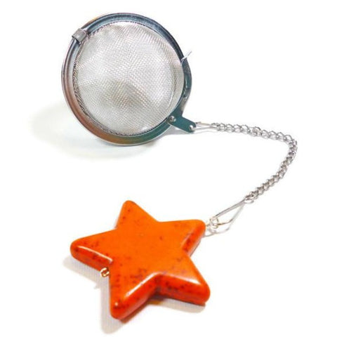 Tea Infuser with Orange Star Charm