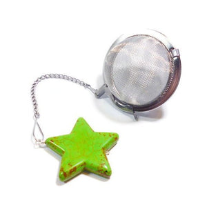 Tea Infuser with a Green Star Charm