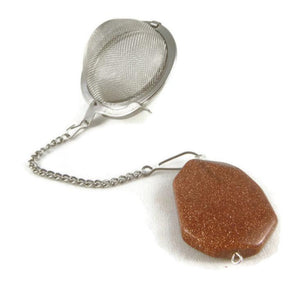 Tea Infuser with Goldstone Charm