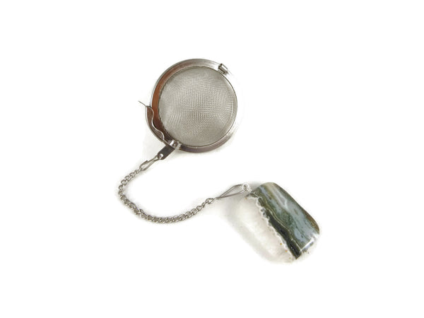 Tea Infuser with Ocean Jasper Charm