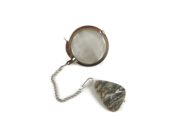 Tea Infuser with Fancy Jasper Charm