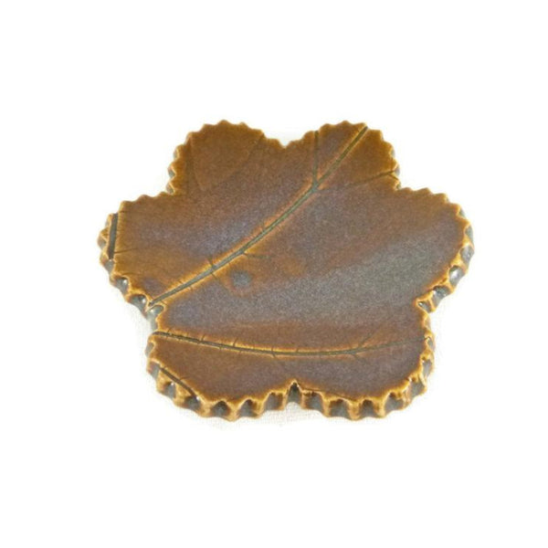 Iron Lustre Trivet with Leaf Veining