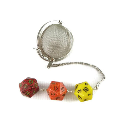 Tea Infuser with Firey Dice Trio