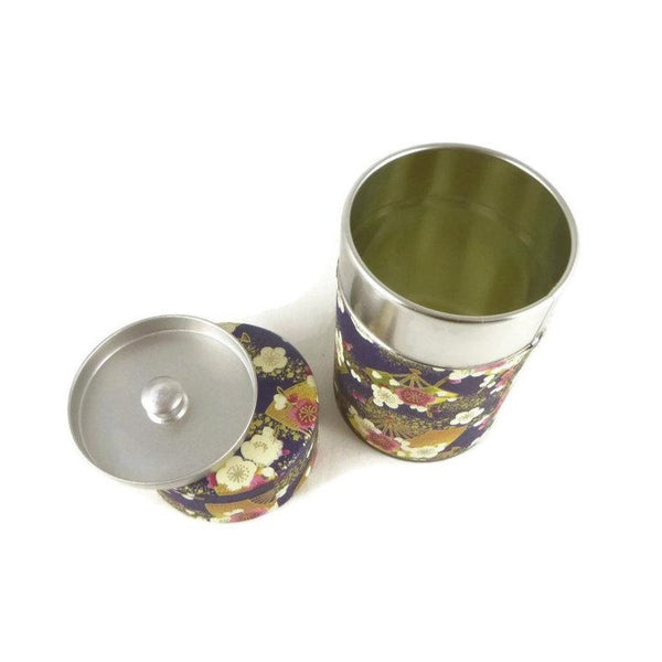 Purple Flowers Washi Paper Canister - 3.5oz