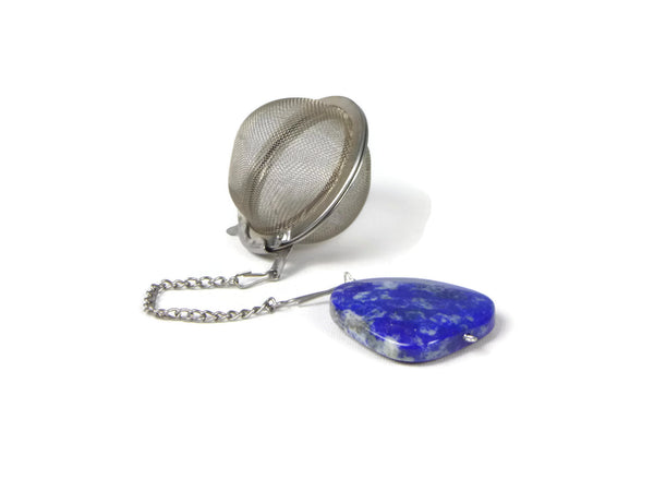 Tea Infuser with Chunky Lapis Charm