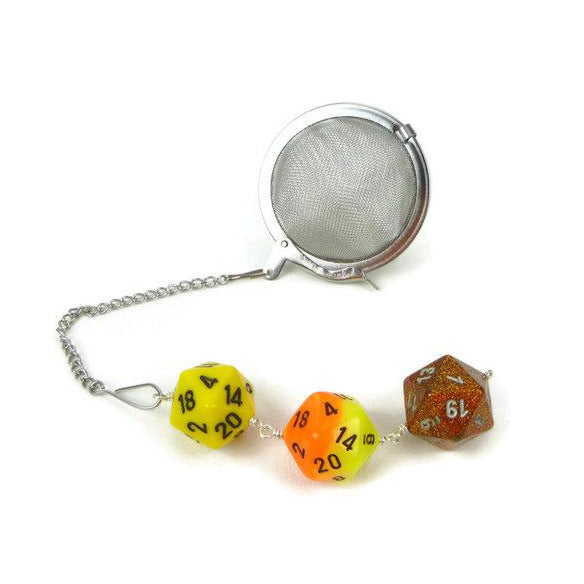 Yellow and orange dice infuser