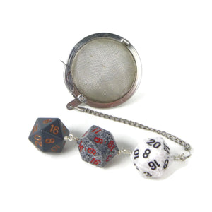 Tea Infuser with Monochrome Dice Trio