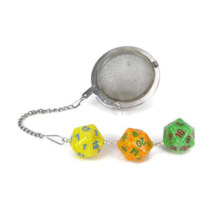 Tea Infuser with Citrus colored Dice Trio