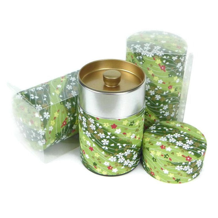 Dark Green Washi Paper Canister - 3.5oz