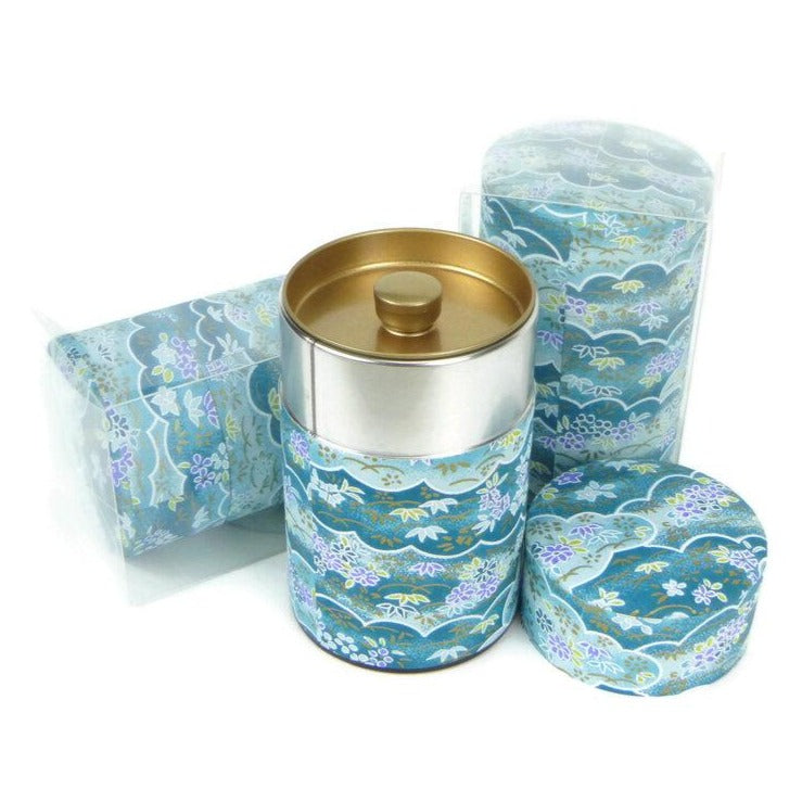 Ocean Lace - Blue Washi Paper Canister 3.5oz