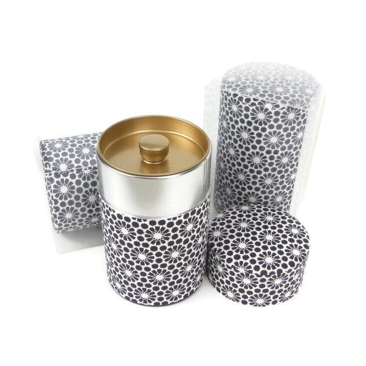 Black and White Washi Paper Canister - 3.5oz