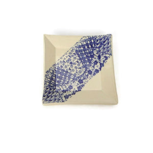 Small Square Blue and White Dish
