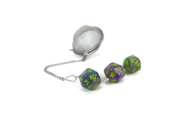 Tea Infuser with Earthy Tie-dye dice trio
