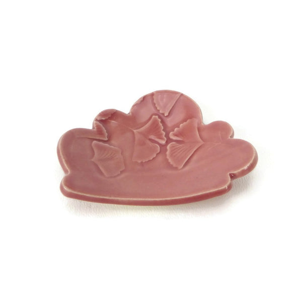 Weeping Plum Cloud Shaped Trivet with Ginkgo Patterning