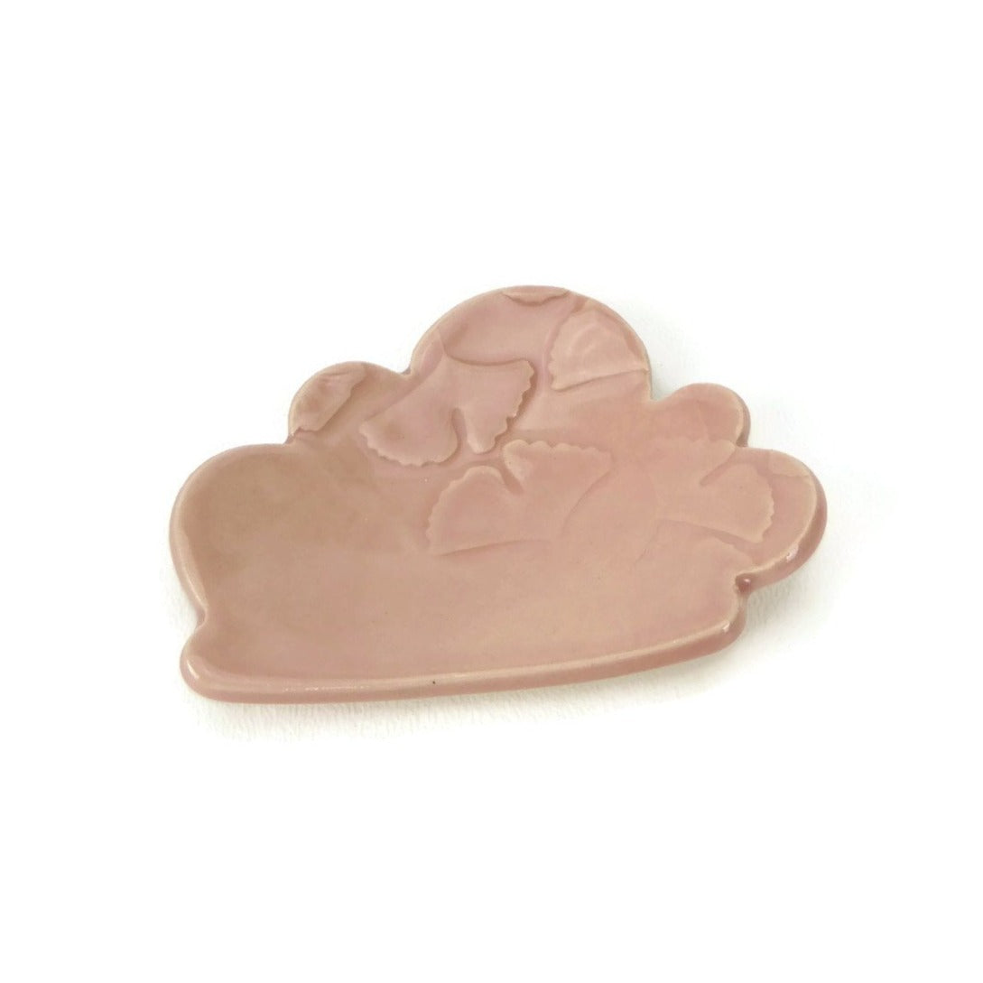 Cherry Blossom Cloud Shaped Trivet with Ginkgo Patterning