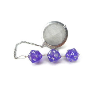 Tea Infuser with Purple Borealis Dice Trio