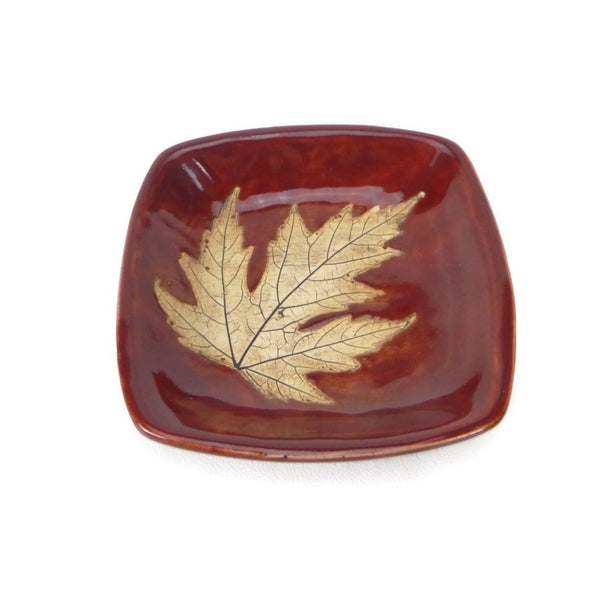 Small Leaf Plate - Red
