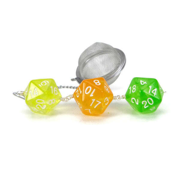 Tea Infuser with Lemon, Orange and Lime Dice Trio