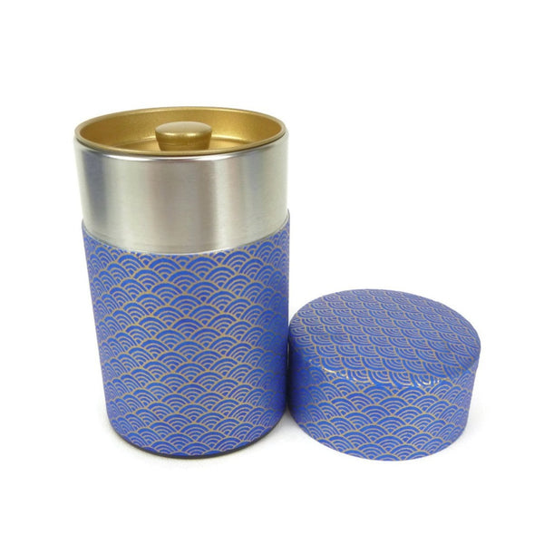 Blue Fish Scale Washi Paper Canister - 3.5oz