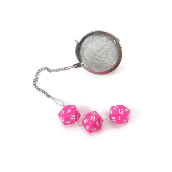 Tea Infuser with Pink Dice Trio