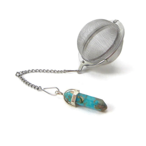Tea Infuser with Turquoise Crystal Point