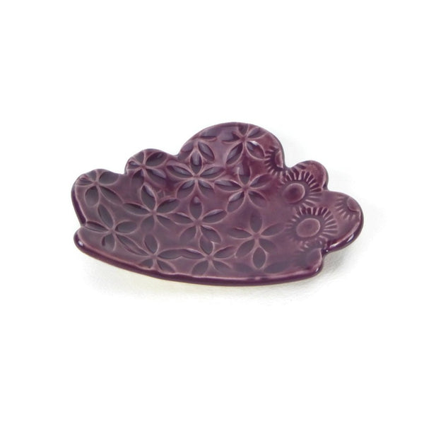 Mulberry Cloud Shaped Trivet with Texture
