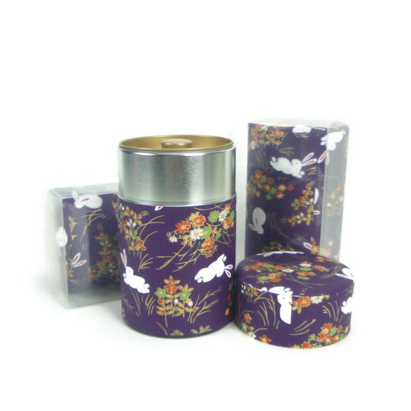 Bunnies in Purple Tea Canister - 3.5oz