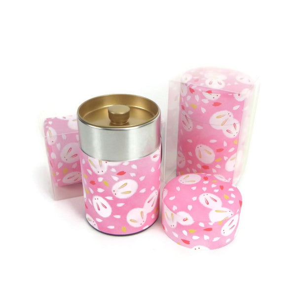 Fluffy Bunnies in Pink Tea Canister - 3.5oz