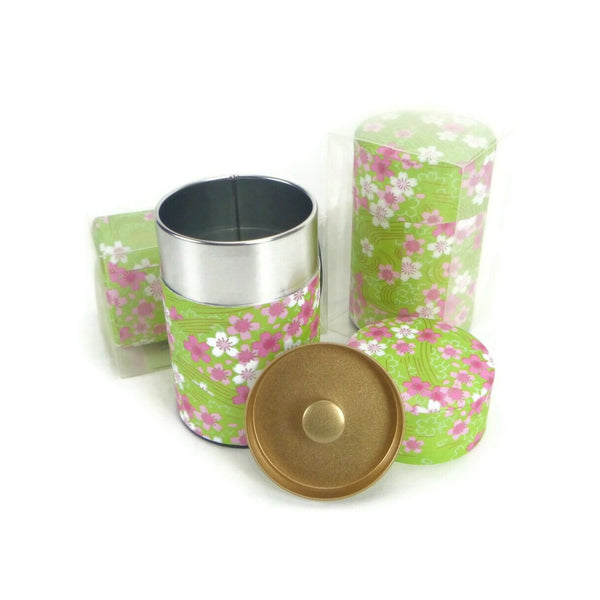 Pink and Green Floral Canister - 3.5oz