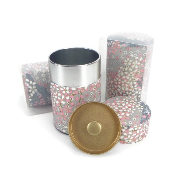 Pink and Grey Floral Canister - 3.5oz