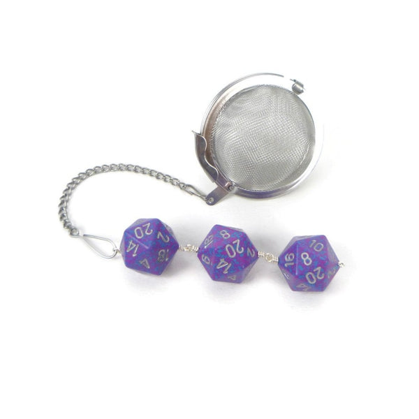 Tea Infuser with Purple Speckled Dice