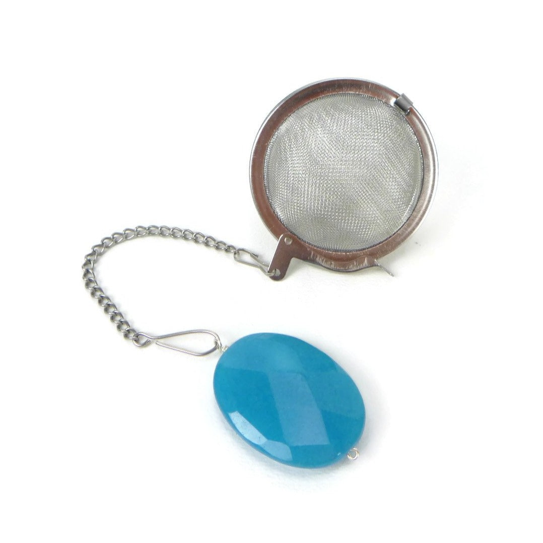 Tea Infuser with Blue Oval Charm