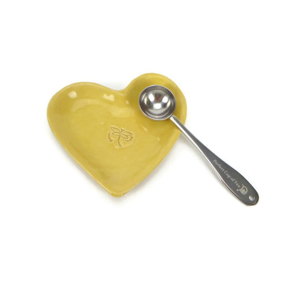 Heart Shaped Yellow Dragonfly Plate