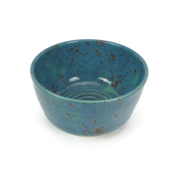 Speckled Blue and Brown Bowl