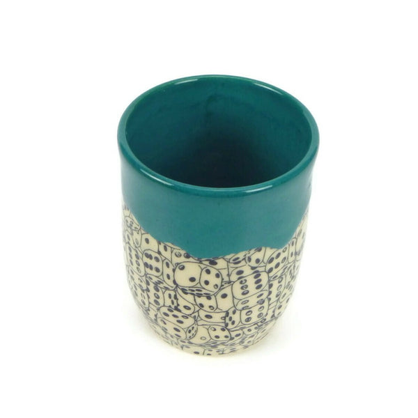 Teal Dice Cup