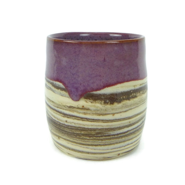 Agate and Merlot Swirled Cup
