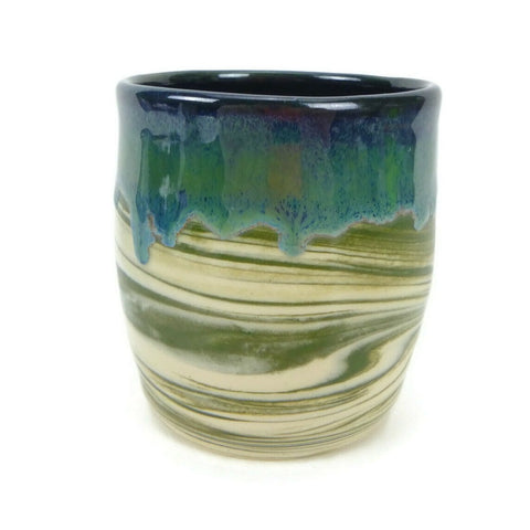 Agate and Mossy Green Swirled Cup