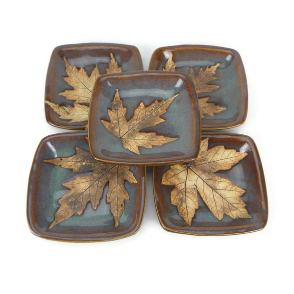 Small Leaf Plate - Iron Lustre