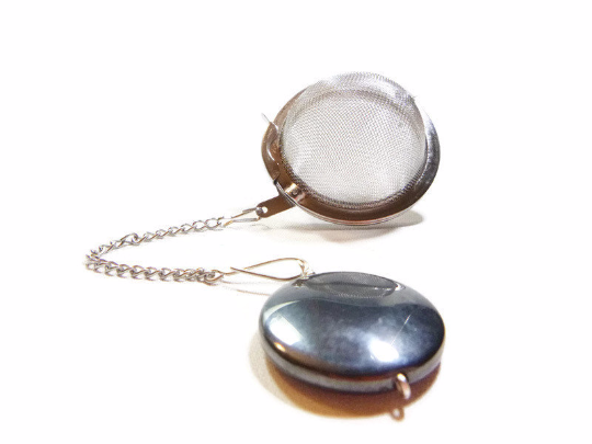 Tea Infuser with Hematite Charm
