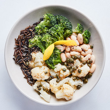 Lemon Wild Rice & Broccoli Bowl