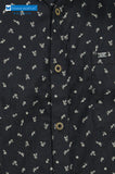 Dennis Morton Black Floral Printed Casual Shirt