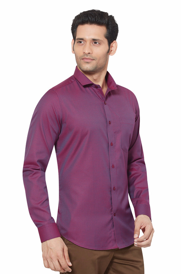 Slim Fit Partywear Shirt in a Chequered Design - SFP 5016B